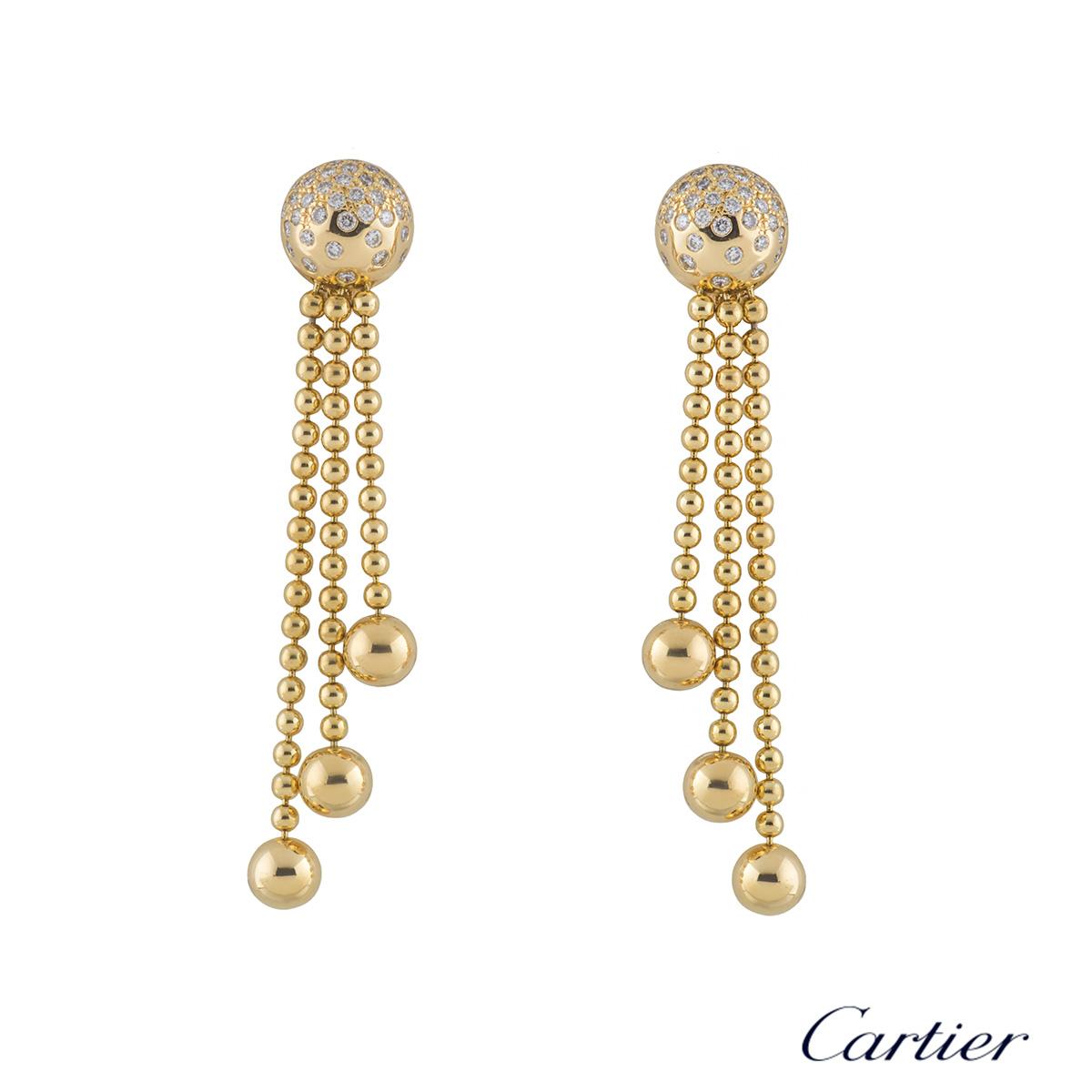 Cartier Yellow Gold Diamond Draperie Jewellery Suite